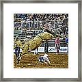 Cowboy Down Framed Print