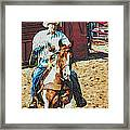 Cowboy On Paint Framed Print