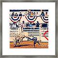 Cowboy Up Framed Print by Charles Dobbs