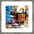 Cowboy Up Hot Thing. Framed Print by Miki  Finn