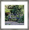 Cozy Southern Garden Bench Framed Print