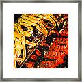 Crab Vs. Lobster Framed Print