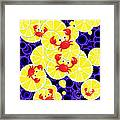 Crabs On Lemon Framed Print