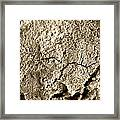 Cracked Blue Surface. Framed Print