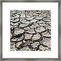 Cracked Ground 4 Framed Print