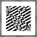 Cracks In The Pavement Maze  Framed Print