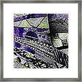 Crazy Cones Purple Greenl2 Framed Print