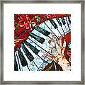 Crazy Fingers Piano Square Framed Print