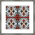 Crazy Fingers Piano Tiled Framed Print