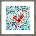 Crazy Heart Framed Print by Nickie Bradley