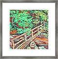 Creek Bridge Framed Print