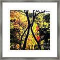 Crisscross Framed Print
