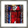 Cross And Red Robe Framed Print