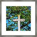 Cross At The Monastery Of The Holy Spirit Framed Print