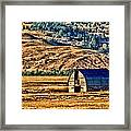 Cross Country Deserted Framed Print by Rebecca Adams