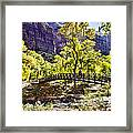 Crossover The Bridge - Zion Framed Print