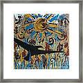 Crow Carrying Sun Medicine Framed Print