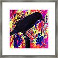 Crow On Red Framed Print