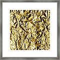 Crumpled Gold Foil Framed Print