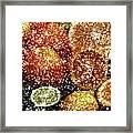 Crystal Grapefruit Framed Print