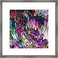 Crystalline Crimsonicity Framed Print