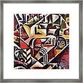 Cubist Cityscape, 1914 Framed Print