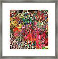 Tulips Of Many Colors - Nyc Markets Framed Print