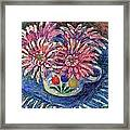 Cup Of Flowers Framed Print