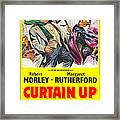 Curtain Up, Us Poster, Robert Morley Framed Print