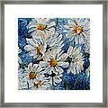 Daisy Cluster Framed Print