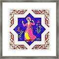 Dancing Dancer Pastel Framed Print