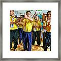 Dancing Kindergarten Students At Baan Konn Soong School In Sukhothai-thailand Framed Print
