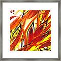 Dancing Lines Hot Abstract Framed Print