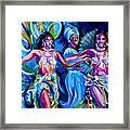 Dancing Panama Framed Print