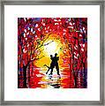 Dancing Sunset Original Painting Framed Print