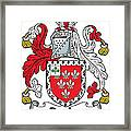 Darley Coat Of Arms Irish Framed Print