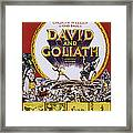 David And Goliath, Aka David E Golia Framed Print