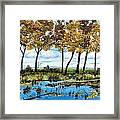 Dawn's Blue Waters Edge  Framed Print