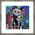 Day Of The Dead Cat Framed Print