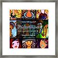 Dazzle Neck Art Collection Framed Print