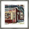 De Bullion Street Depanneur Kik Cola Montreal Streetscenes Framed Print