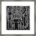 Decorated Elephant Framed Print