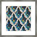 Decorative Tiles On A Mosque Framed Print
