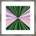 Deep Green And Pink Framed Print
