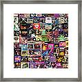 Deep Purple Collage Framed Print