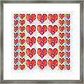Deeply In Love Cherryhill Flower Petal Based Sweet Heart Pattern Colormania Graphics Framed Print