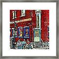 Depanneur Centre Pointe St Charles Montreal Verdun Paintings Hockey Art City Scenes Cspandau Framed Print