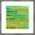 Desiderata - Landform Square Design Framed Print