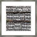 Detail Of A Carved Mani Stone In The Everest Region Of Nepal Framed Print