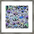 Detail Of Rainbow-colored Bubbles Framed Print